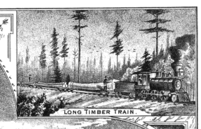History of Lake Huron Shore - Logging Train