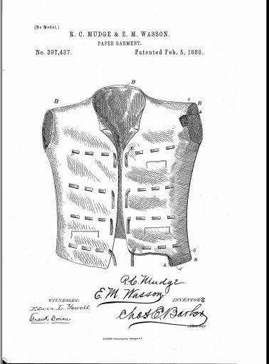 mudge vest patent