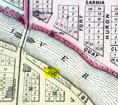 Lindbury Flour Mill Location 1876