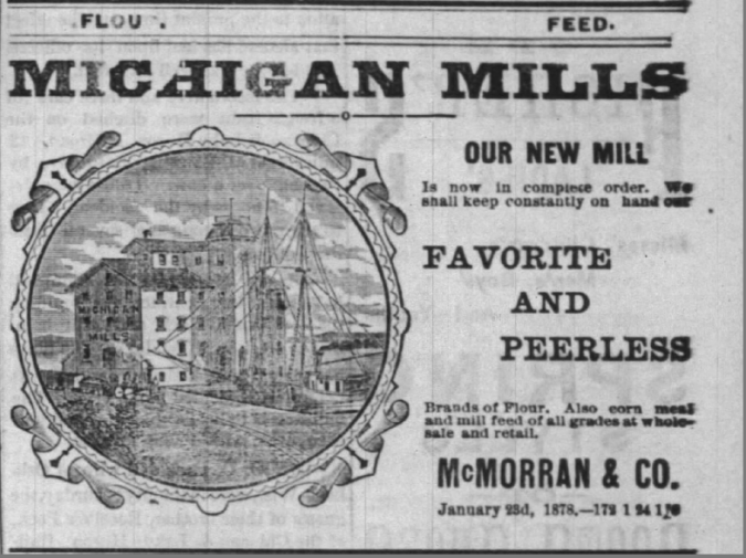 McMorran & Co 1878 Ad Michigan Mills