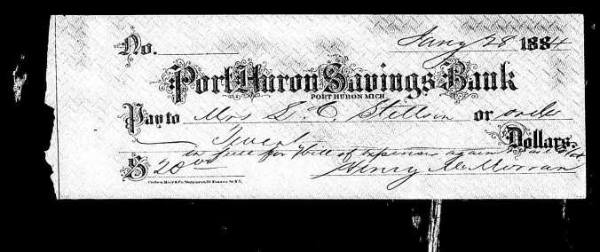 Port Huron Savings Bank with Henry Signature