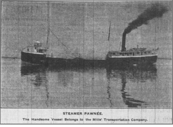 Steamer Pawnee Mills Trans Co.