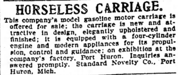 Horseless Carriage Ad